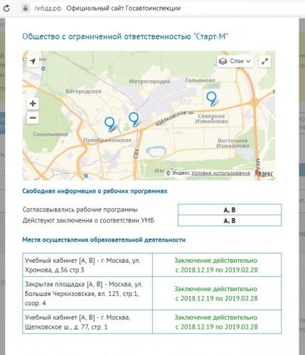 Сайт ГИБДД автошколы